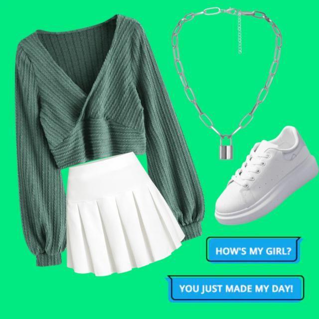 Green white silver