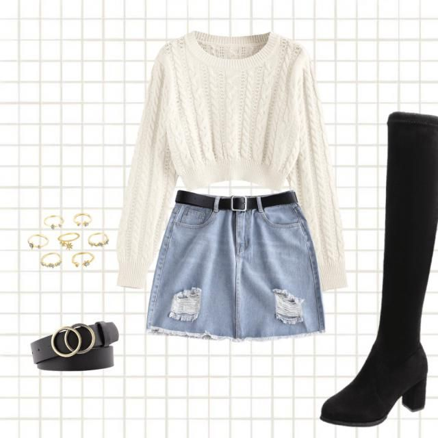 Cozy into fall look. I thought it would be really cute with knee high boots. I hope you all agree :)