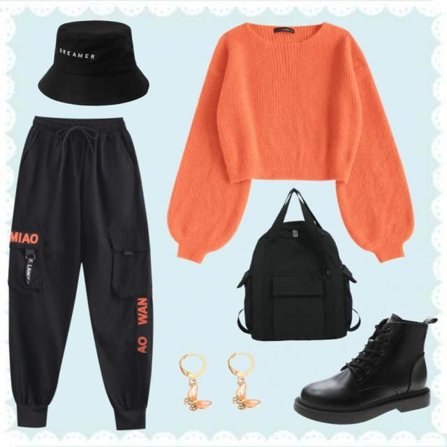 🧡 just an orange outfit 🧡