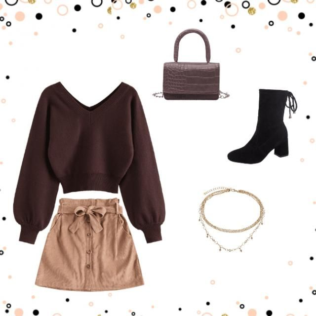 brown and beige for a super autumn!🍁🍂