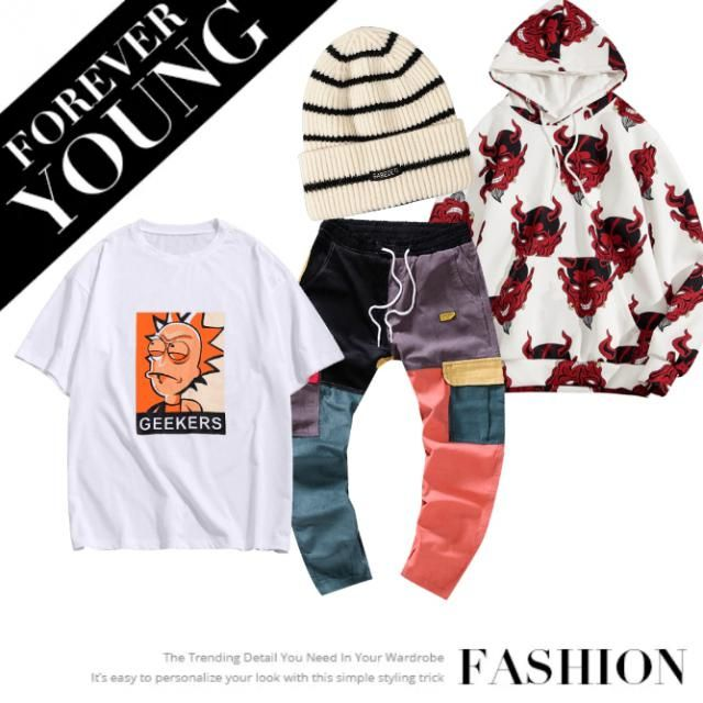 hood Jacket, Trouser, T-shirt and hat... make your look go crazy in this Summer