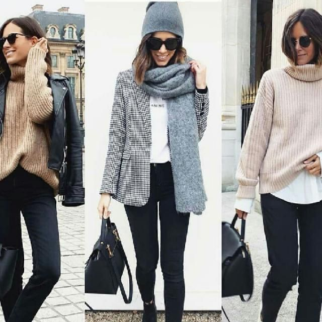 3 cute everyday looks with black jeans