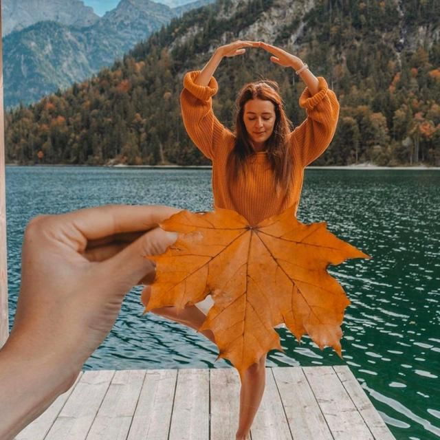 Let's great creative with autumn's leaf