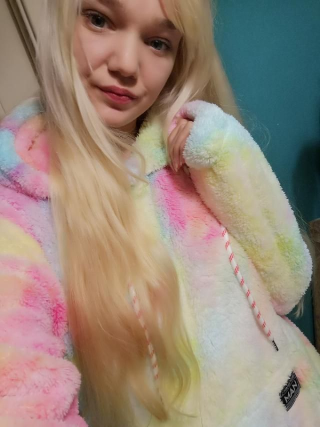 In love with this fluffy hoodie 😍🦄🍉🔮💮🌈💜🌺🏵️☯️🌼🌟💟🥰💘