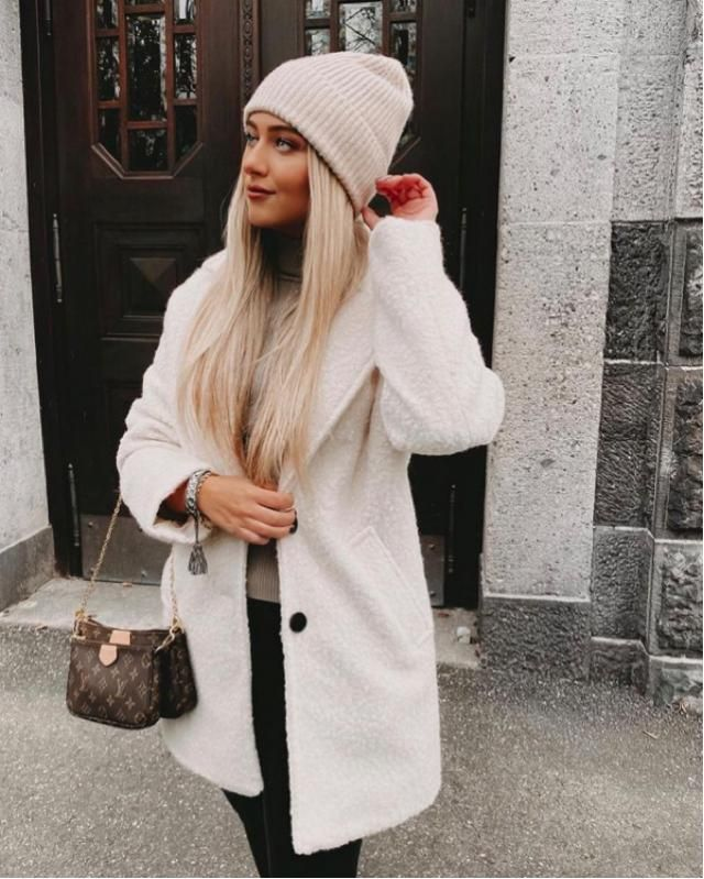 This white thick coat is needed for December