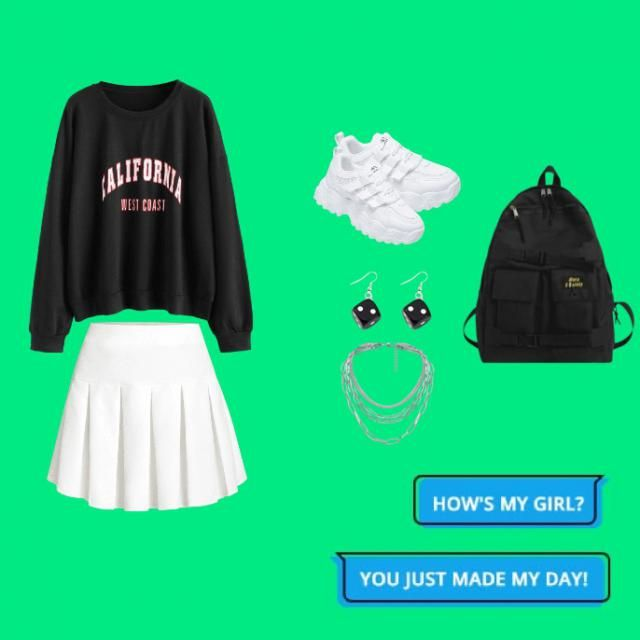 I thought this would be a cute spring/fall fit or when your going out with your friends to the mall or something …
