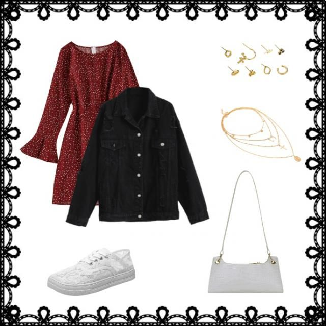 Here is a cute and stylish winter outfit. I went with some Christmas colours for this festive time of year!
