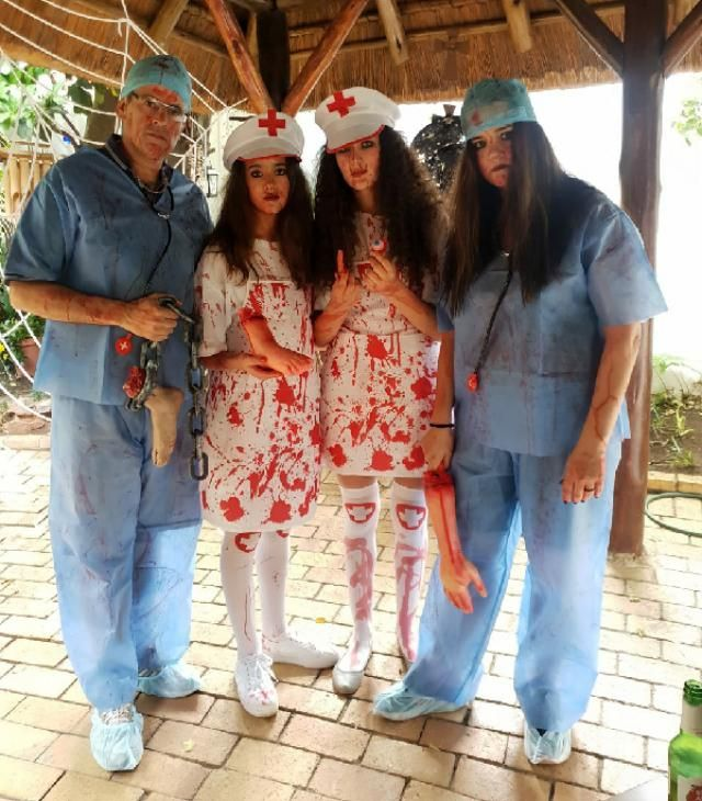Our Halloween outfits 👨‍⚕️👩‍⚕️💉