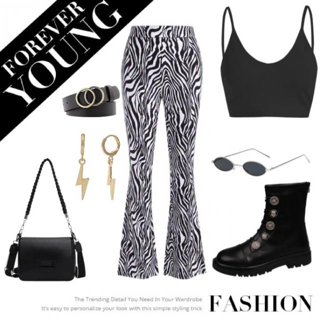 Saw these pants everywhere, wanted to put it with a pair of cool boots, singlet crop top, gotta have a bag something sm…