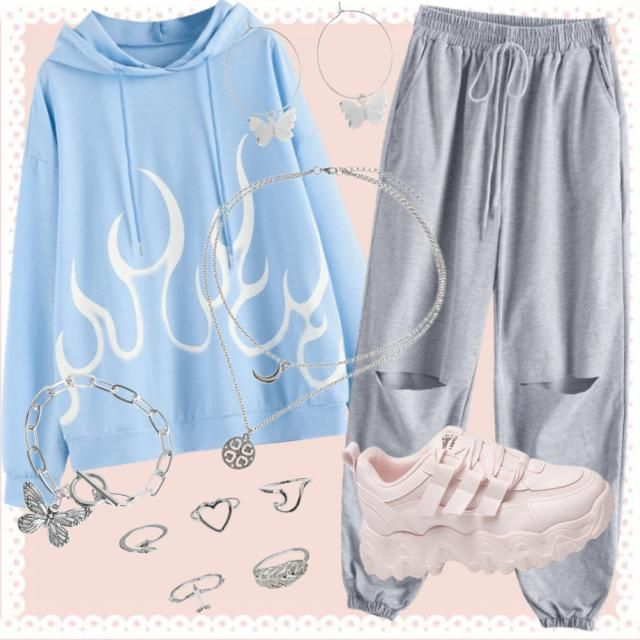 Outfit comfy chic 🌸💙