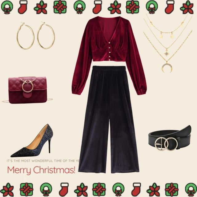 Cozy and cute outfit for candlelit christmas nights