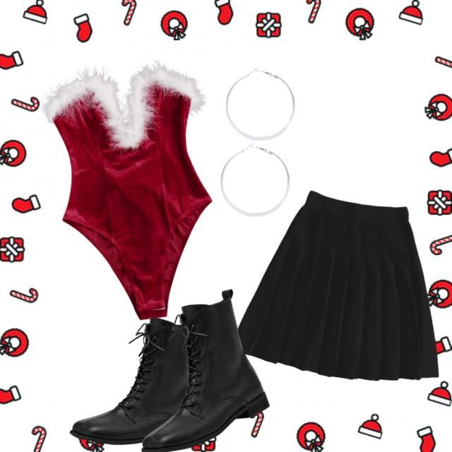 cute santa inspired outfit🎅🏻