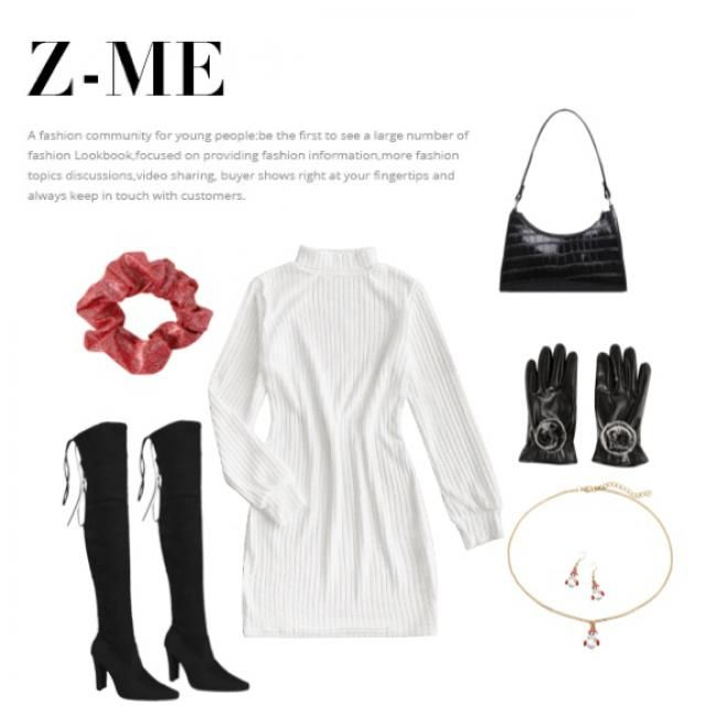 This outfit is perfect for a Christmas dinner with your friends, family or your partner's family ;)