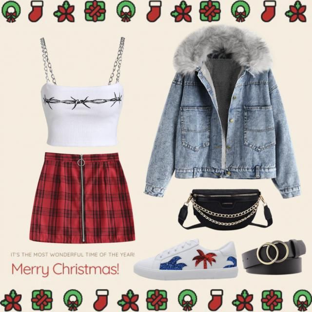 Casual but stylish attire for Christmas ❤️🎄