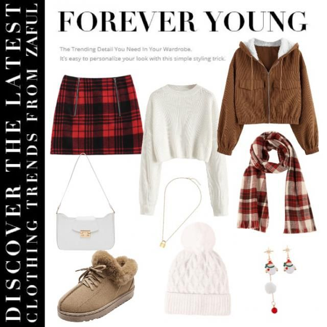 I wanted to bring in the brown of winter/autumn and the classic red Christmas skirt, the white ties it all together, I …