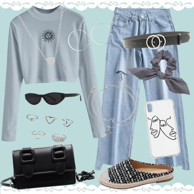 Outfit soft chic💙🪐🤍