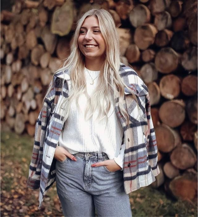 Did anyone know that plaid jacket is a trend for winter?