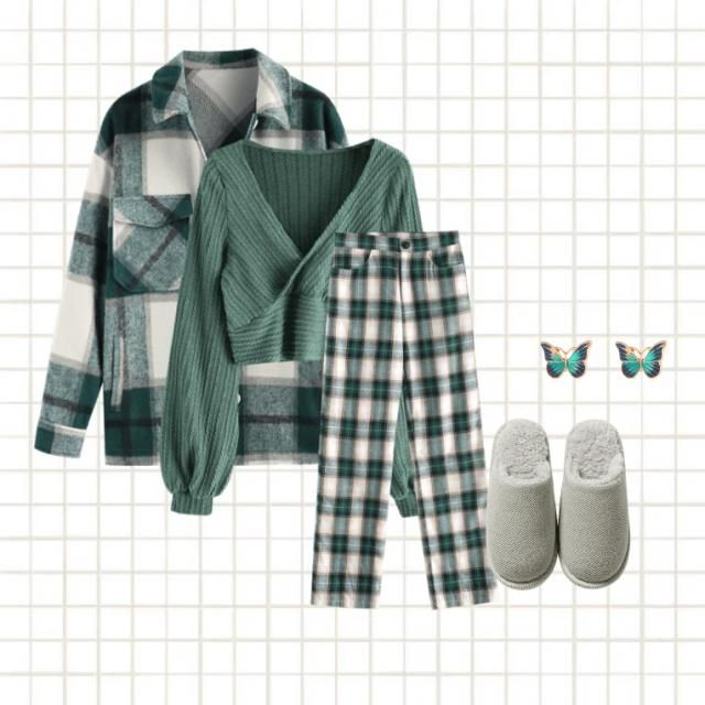 This emerald green outfit is perfect for celebrating the new year at homIt will count perfectly with cookies and coc…