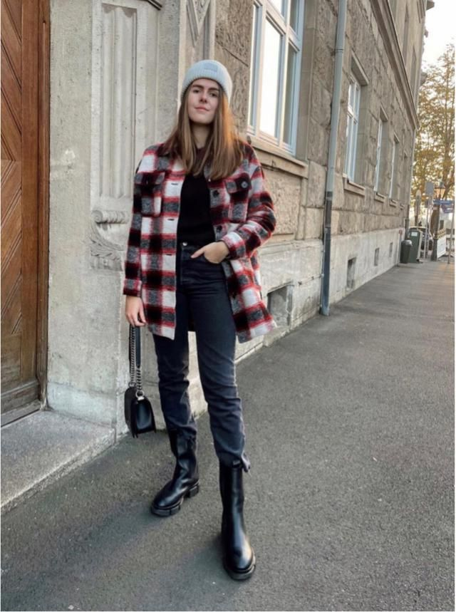 Feel good with the plaid jacket! What do you think?