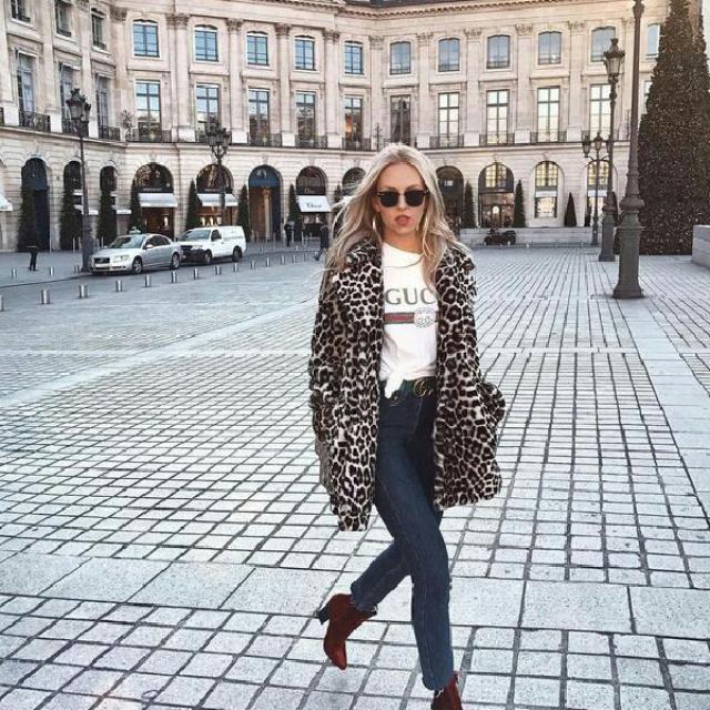 fancy leopard print coat