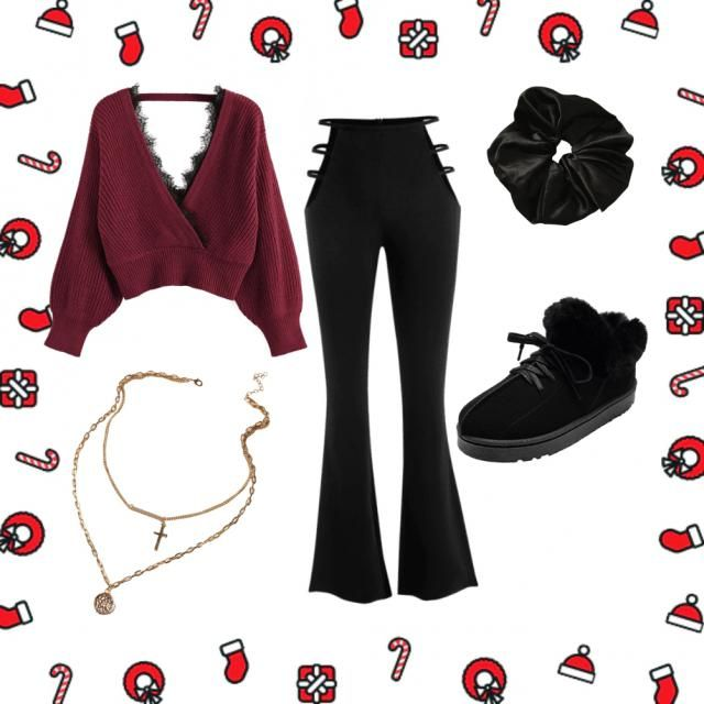 a cozy and classy outfit for Christmas ❤
