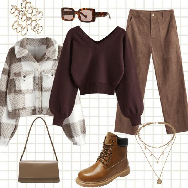 total brown outfit