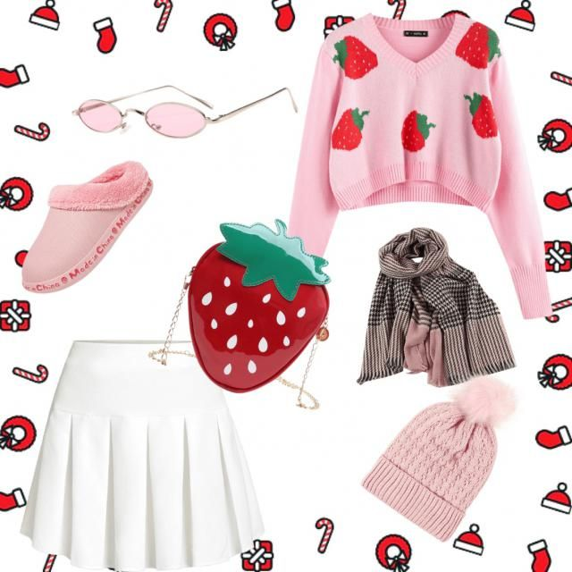 Strawberry 🍓 and please like,follow and comment for more Christmas 🎄 outfits 💖❤️🩰🛍🎀