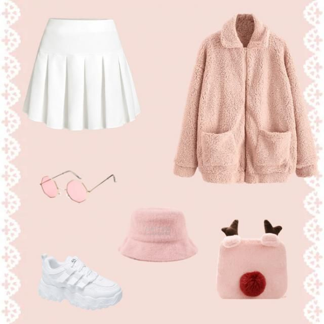 A cute little outfit for the cooler days! Fluffy and girly, don't forget to add some thigh socks to it baby girl.…