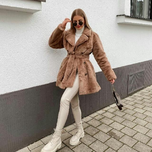 soft and fabulous faux fur coat from zaful