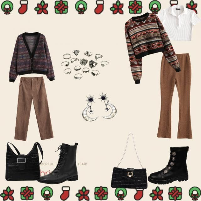 here are some cute outfits I would wear on Christmas day/week 💜