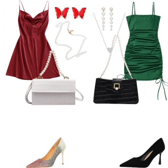 Girls night Christmas outfits