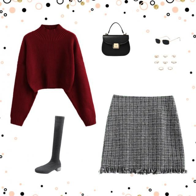 Cute Christmas outfit. Can combine with any kind of long boots 👢