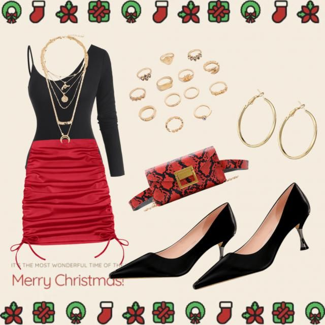 black red and gold for a classic xmas look thats a bit glam