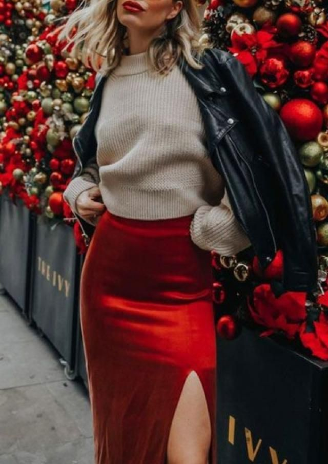 If you don't have skirt, you can always choose satin dress combined with a fave jumper or sweater.... | | |