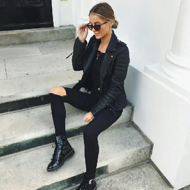 black on black outfit wha5 do you think about it ?
