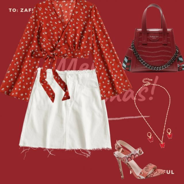 Make your Christmas brighter and redder with this lovely red outfit!