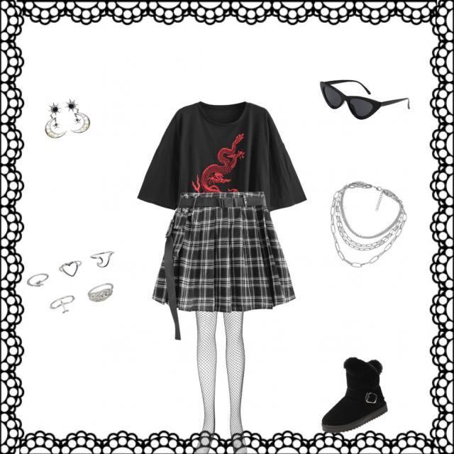 Grunge kawaii outfit 5. 🖤