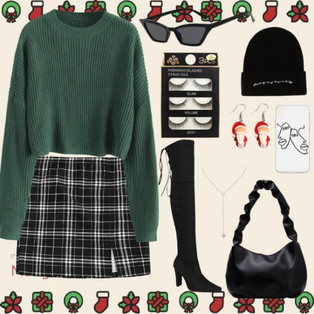 Cozy and Christmasy but still hella fashionable!