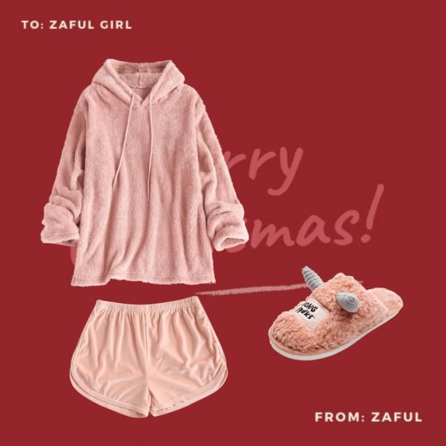 Rock this Christmas morning&;s look! An oversized comfy sweatshirt and a cute pair of shorts is the best outfit for thi…
