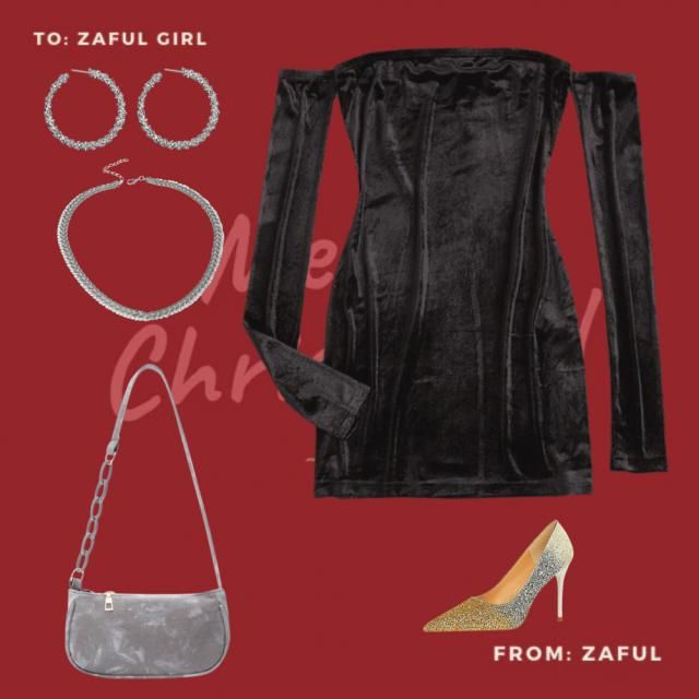Christmas is all about being stylish, comfortable and fun. This is what this outfit echos. The black dress is elegant a…