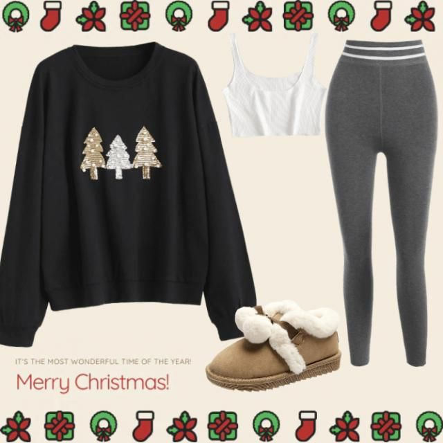 A way of staying fashionable and cozy on a chilly day with this festive look.🎄A very cute outfit to rock whilst at…