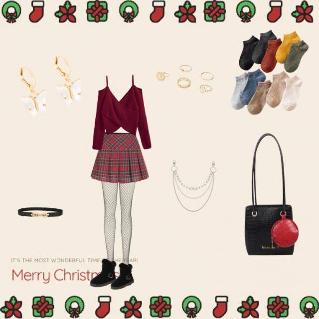 A cute Christmas outfit I'd love to try out!! What do you think?