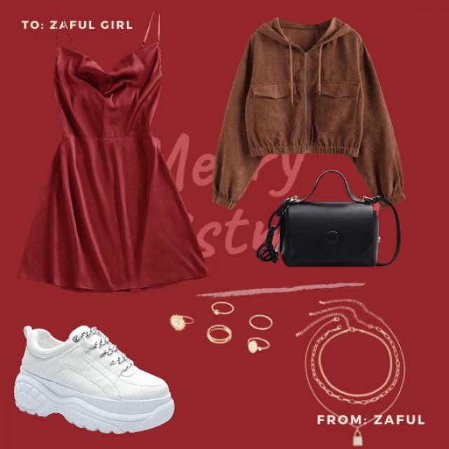 I made this bc first of all No hels just a plane normal dress a Black bag and some White shoes and some nevlases and ri…