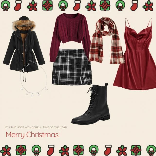 Here are some cute options for a christmas outing dont forget a mask though lol