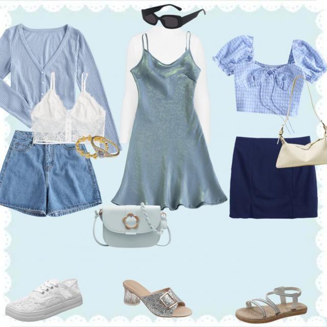 disney princesses as outfits: cinderella 🐁💙