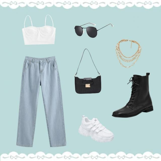 white top to look more sexy, mom jeans to look slim, shades to look fierce, when you partner bag with this outfit you&;…