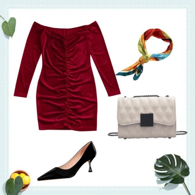 so glam outfit, use neck tie for your hair wrap it like your ponytail, so classy white chain sling bag partnered with b…