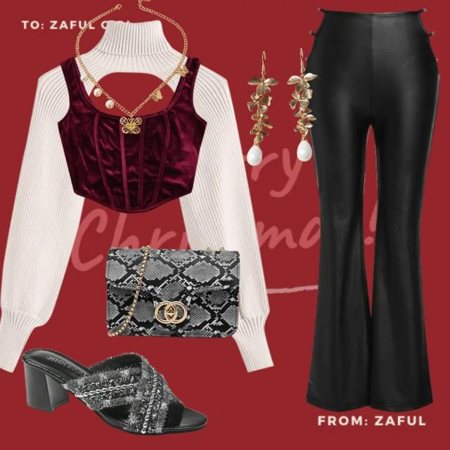 elegant and sexy christmas outfit