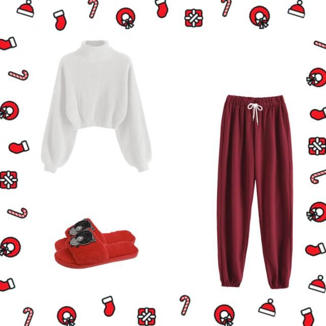 Cozy cute warm outfit for Christmas ❤️❤️❤️