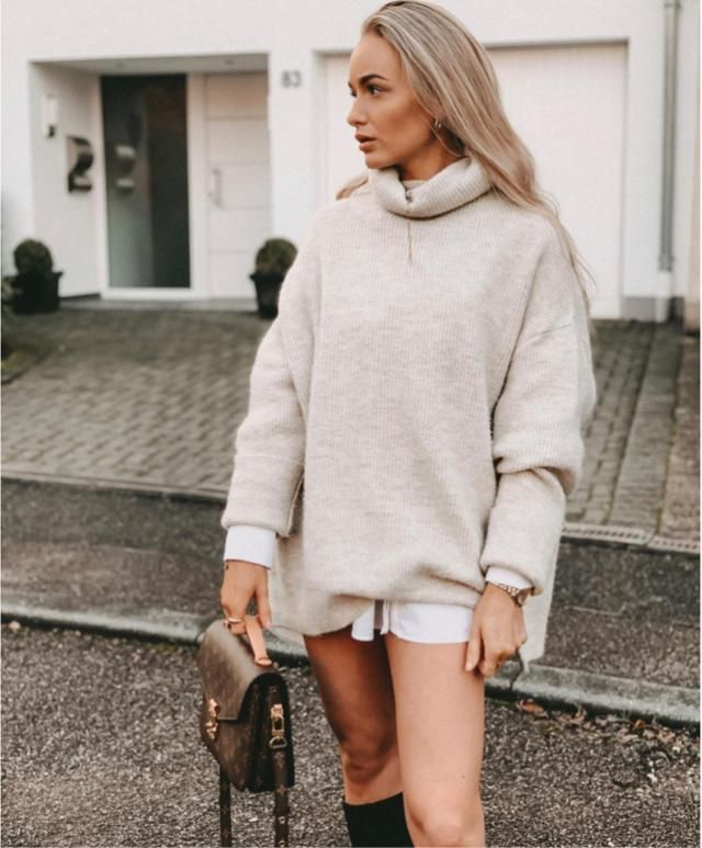 Oversized sweater is my favourite for winter